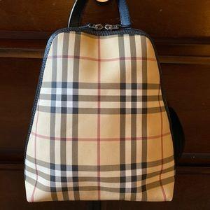 Burberry beige nova coated canvas backpack